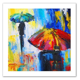 Susi Franco 'Red Umbrella' Unwrapped Canvas
