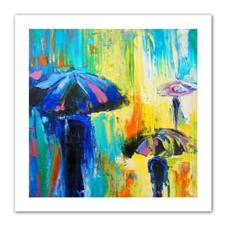 Susi Franco 'Turquiose Rain' Unwrapped Canvas