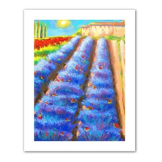 Susi Franco 'Provence Rows' Unwrapped Canvas