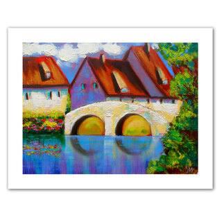 Susi Franco 'German Village on Rhine' Unwrapped Canvas