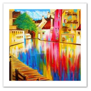 Susi Franco 'River Through Treviso' Unwrapped Canvas