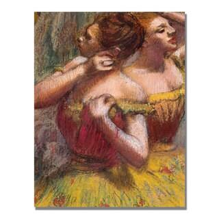 Edgar Degas 'Two Dancers' Canvas Art