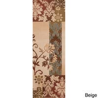 Woven Flora Floral Area Rug - 3' x 8'