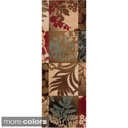 Woven Giselle Floral Rug (3' x 8')