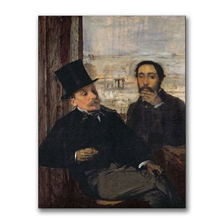 Edgar Degas 'Self Portrait with Evariste' Canvas Art
