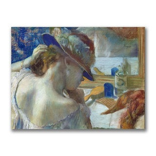 Edgar Degas 'In Front of the Mirror' Canvas Art