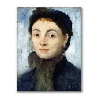 Edgar Degas 'Portrait of Josephine Gaujelin' Canvas Art