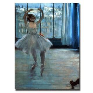 Edgar Degas 'Dancer in Front of a Window' Medium Canvas Art