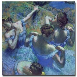 """Edgar Degas 'Blue Dancers 1899' 18"""" x 18"""" Canvas Art"""
