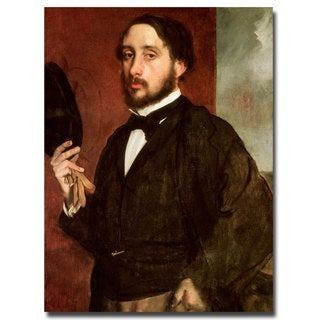 Edgar Degas 'Self Portrait 1862' Canvas Art