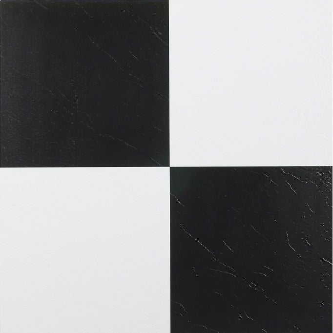 Black And White Vinyl Floor Tiles