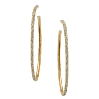 Michelle Monroe Two-tone Hoop Earrings Made with SWAROVSKI Elements