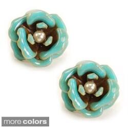 Sweet Romance Colorful Rose Stud Earrings