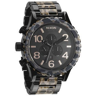 Nixon Men's 51-30 Chrono Black and Leopard Pattern Watch
