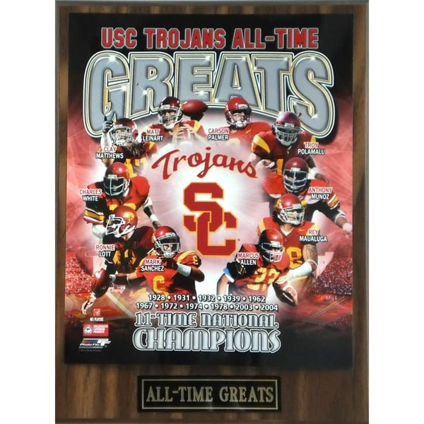 USC Trojans 'All Time Greats' Plaque