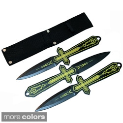 Defender 3 Piece Set of 10 Inch Throwing Knives