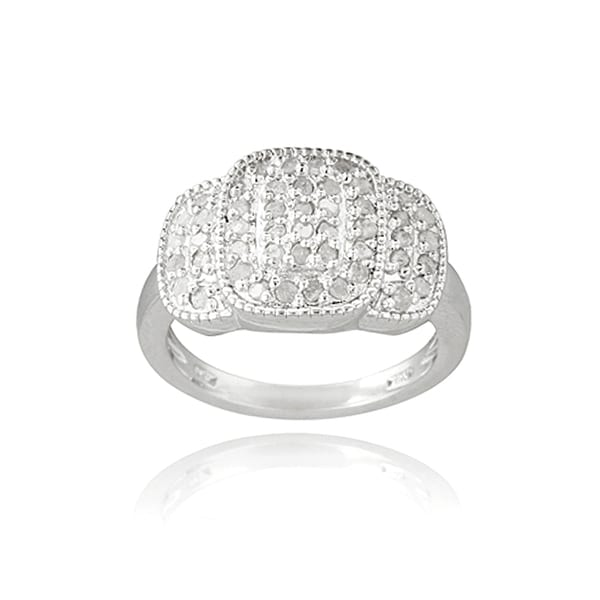 DB Designs Rhodium Plated 1/2ct TDW Diamond Ring