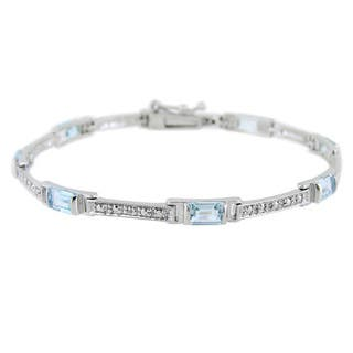 Glitzy Rocks Gemstone and Diamond Accent Bracelet|https://ak1.ostkcdn.com/images/products/8003285/Glitzy-Rocks-Diamond-Accent-and-Gemstone-Bracelet-P15369002.jpg?impolicy=medium