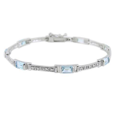 Glitzy Rocks Gemstone and Diamond Accent Bracelet