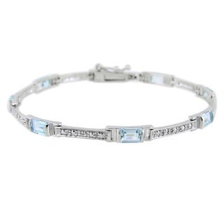 Glitzy Rocks Gemstone and Diamond Accent Bracelet (3 options available)