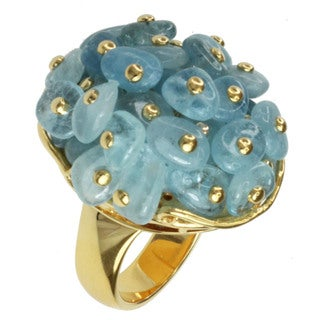 Michael Valitutti Aquamarine Bead Ring (Option: White)