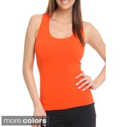 24/7 Frenzy Women's Seamless Racer Back Nylon/Spandex Tank Top