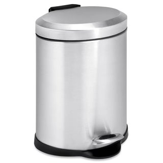 Honey Can Do Oval 5-liter Stainless Steel Step Trash Can