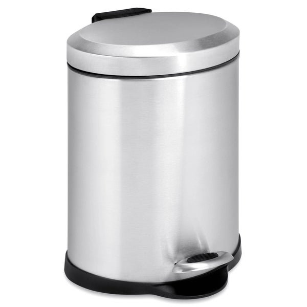 Oval 5-liter Stainless Steel Step Trash Can