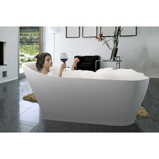 Aquatica Emmanuelle-Wht Freestanding Solid Surface Bathtub