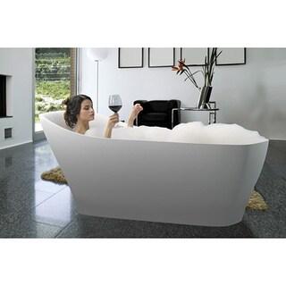 Aquatica Emmanuelle-Wht Freestanding Solid Surface Bathtub