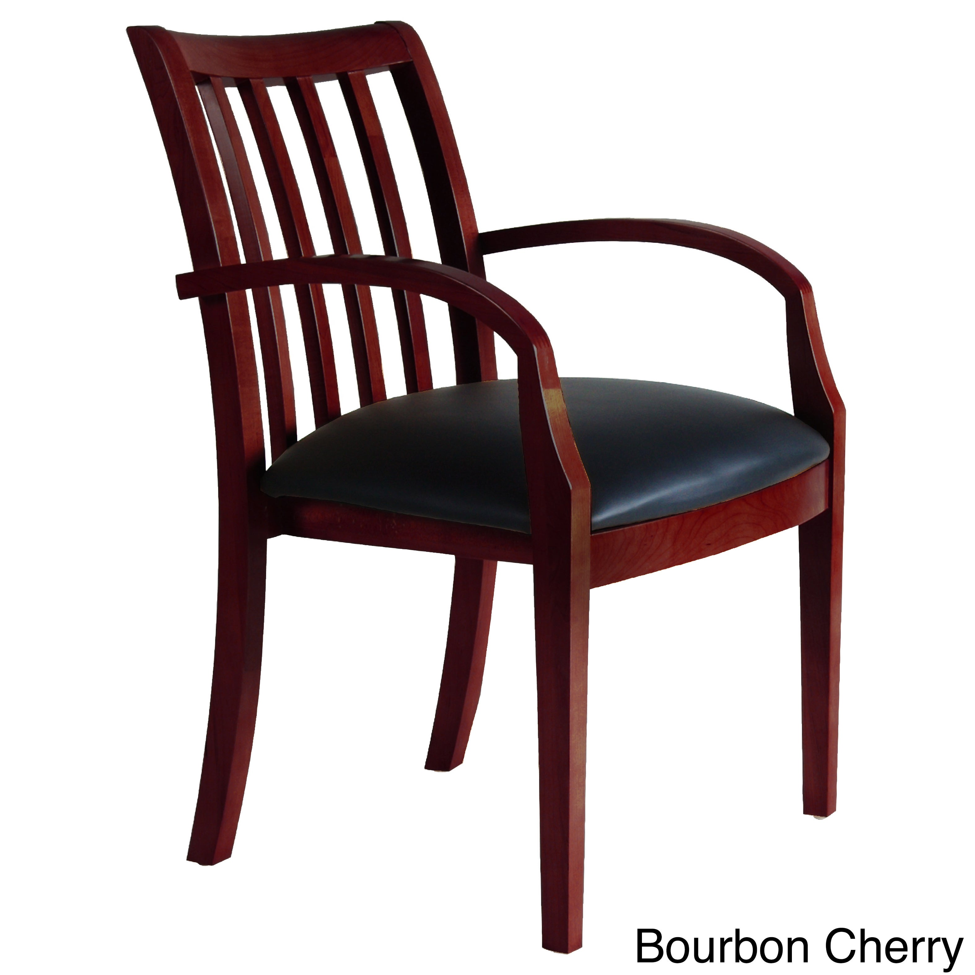 Mayline Mercado Leather/ Wood Slatted Guest Chairs (Set o...