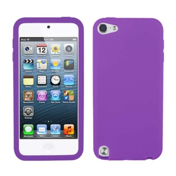 Insten Purple Silicone Skin Gel Rubber Case Cover For Apple iPod Touch ...