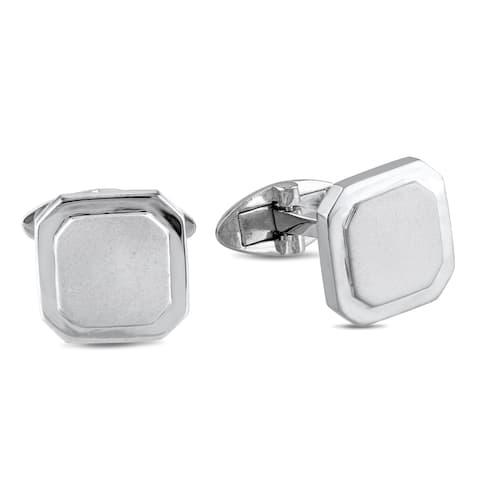 Miadora Sterling Silver Men's Cufflinks