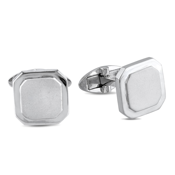 Sterling silver bronze hinged cufflinks