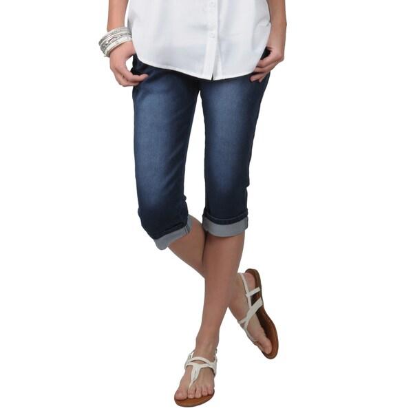Hailey Jeans Co. Juniors Blue Stretch Skinny Capris