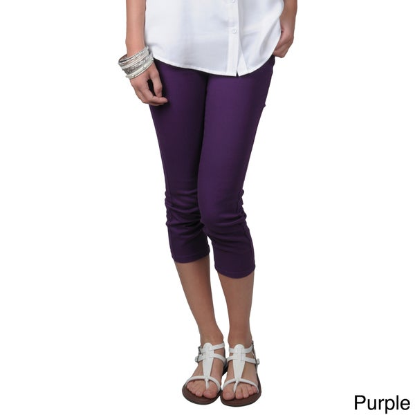 Journee Collection Juniors Stretchy Skinny Capri Pants