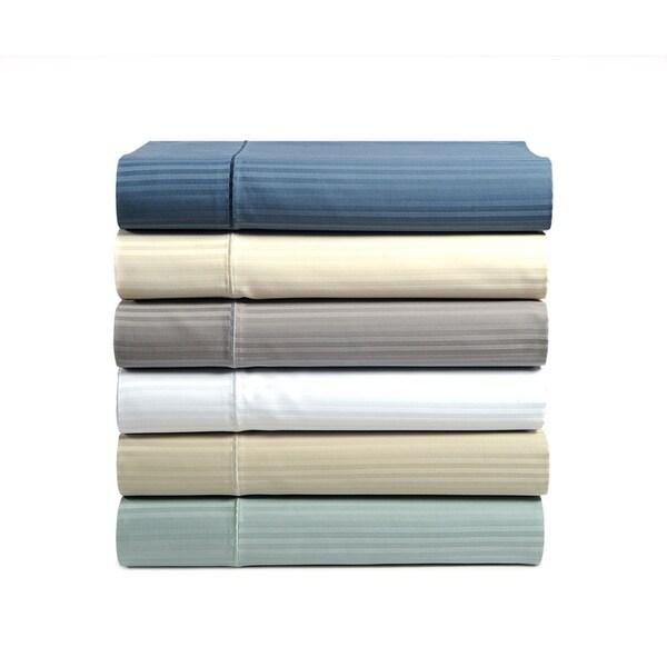 Damask Stripe 500 Thread Count Sheet Set. Opens flyout.