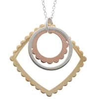 La Preciosa Sterling Silver Tri-Tone Necklace
