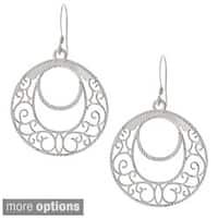 La Preciosa Sterling Silver Designed Dangling Earrings