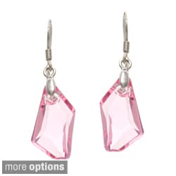 La Preciosa Sterling Silver Crystal Geometrical Earrings Made with SWAROVSKI Elements