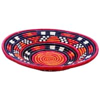 "12-inch Round Woven Peace Basket (Kenya) - 12"" x 12"""