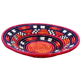 12-inch Round Woven Peace Basket (Kenya)