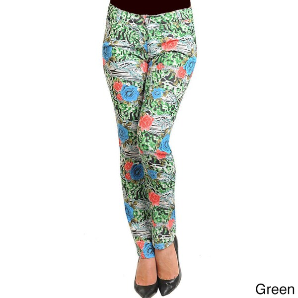 43be70d8d9c9a Shop Stanzino Women s Multi-print Skinny Pants - Free Shipping On ...