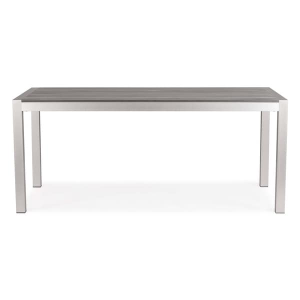 zuo outdoor metropolitan brushed aluminum dining table furniture chairs