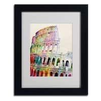 Michael Tompsett 'Colosseum' Vertical Framed Mattted Art