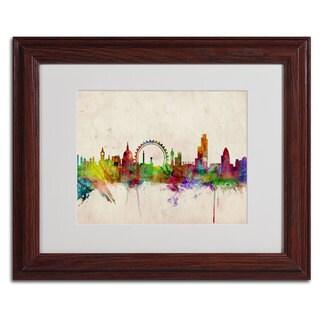 Michael Tompsett 'London Skyline' Framed Mattted Art
