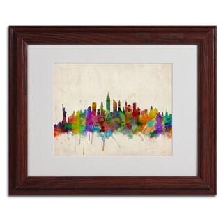 Michael Tompsett 'New York Skyline' Framed Mattted Art