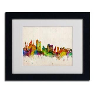 Michael Tompsett 'Sydney Skyline' Horizontal Framed Mattted Art