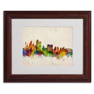Michael Tompsett 'Sydney Skyline' Framed Mattted Art