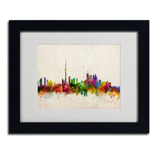 Michael Tompsett 'Toronto Skyline' Horizontal Framed Mattted Art